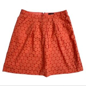 The Limited pleated Polka dot overlay skirt